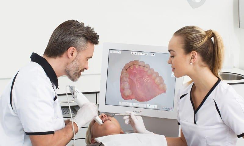 Paciente sendo escaneada